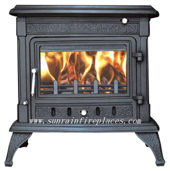 cast iron wood burning stove with boiler(JA043B)