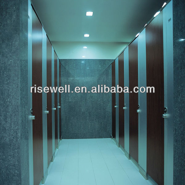 White hpl phenolic resin restroom cubicle