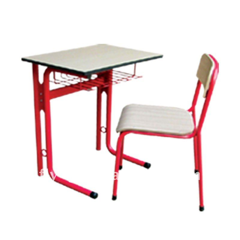 HOT NEW classroom study table chairs for sale/ wooden metal frame school desk chairs