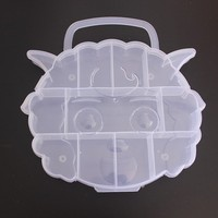 PPB-04 compartment plastic boxes storage