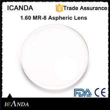 1.60 MR-8 aspheric lens super hard coating