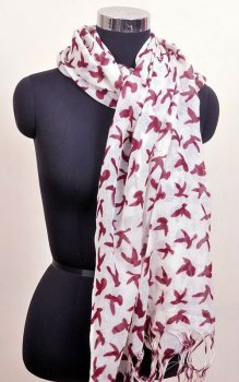 100% pure silk wool printed scarfs