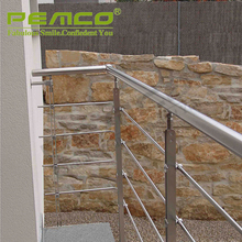 Modern Design Outdoor Stair Balcony 304 Stainless Steel Railing
