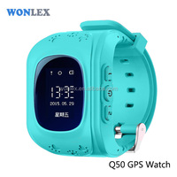Wonlex built-in gps&gprs module cheap gps tracker kids gps watch with android ios app