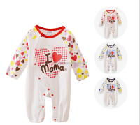 walson I Love Mama Baby Newborn Long Sleeved Bodysuit Romper Jumpsuit