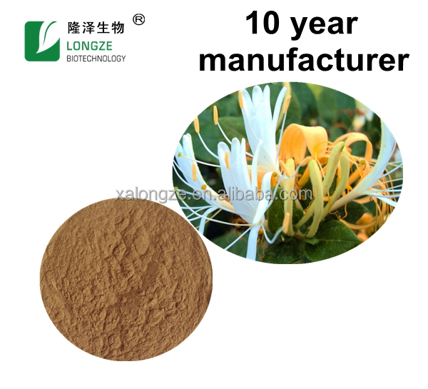 Chinese Standard Plant Extract Honeysuckle Flower Extract Powder with 5% chlorogenic acid cure the diabetes