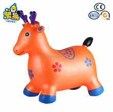 Child playing toys Inflatable deer Jumping bouncy Animal