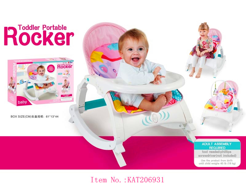 Multi-Function Plastic Popular Design Wholesale Feeding Baby Dinner Highchair With Baby Rocking Chair