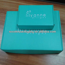 Blue Printed Corrugated Tuck Up Folding Carton Box Any Size