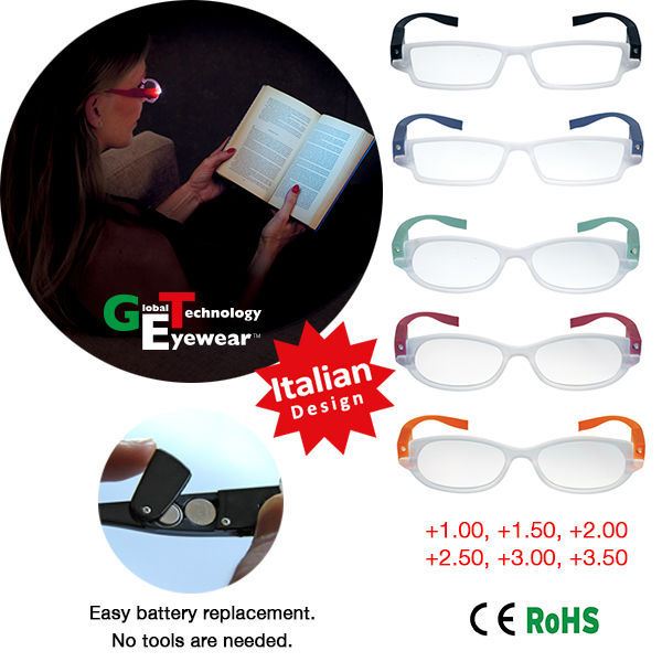 NEW LED READING GLASSES, Italian Design