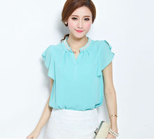 popular blouse pretty chiffon blouses 2013 new blouse designs for women