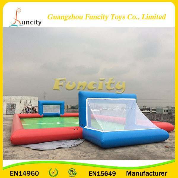 hot sale new design portable outdoor large inflatable football field