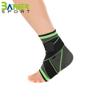 Premium lace up ankle brace support stabilizer ankle sleeve with adjustable strap
