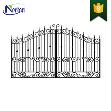 Residential metal craft handmade antique wrought iron driveway gate NT-WI045D