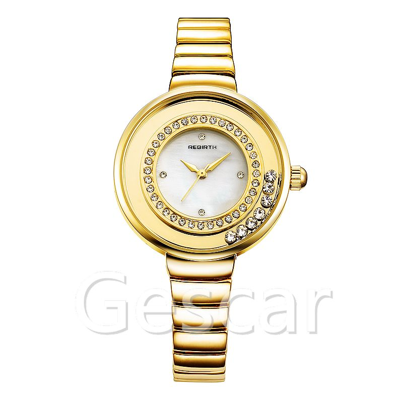 Rebirth RE083 hot sale high quality steel bracelet wrap quartz casual watch for women