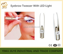 Fashion Girl Makeup LED Light Eyebrow Hair Removal Tweezers