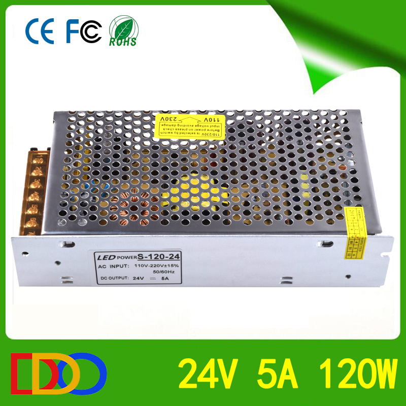 Two years warranty time 24v 5a power supply with very competitive factory price