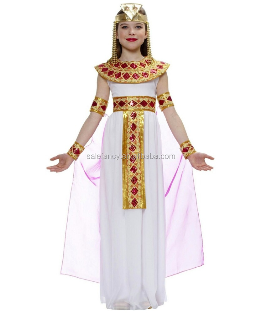 Pink Cleopatra Egyptian Girls lace dress children halloween costume party city halloween costumes girls QBC-8613