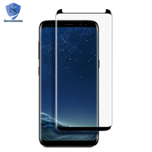 Factory Curved Screen Tempered Glass Protector For Samsung Galaxy S8 Plus With Smaller size,S8 3D Full Screen Glass Protector