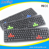 Factory Wholesale Waterproof Keyboard USB Wired Gaming Computer Keyboard