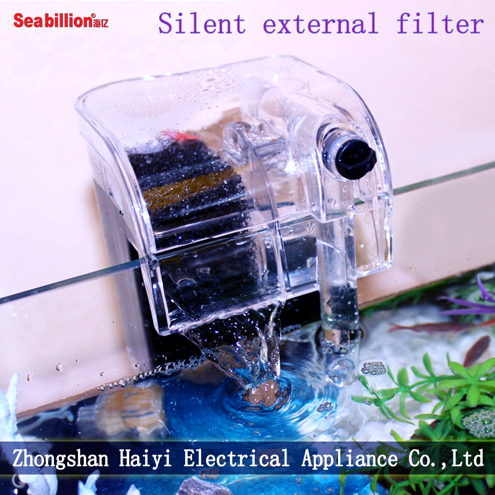 Filtering oxygen-supplying aquarium fish tank external water filter