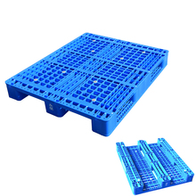 1200x1000x150mm Steel Reinforced 3 Skids vented reusable HDPE Rackable storage plastic pallet china