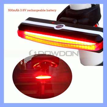 6 Light Modes 26 SMD LED USB Rechargeable Bicycle Rear Warning Lamp COB Tail Light