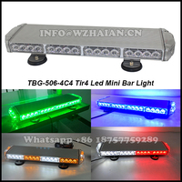 Green led mini warning lightbar for police vehicle/Magnet install mini bar light TBG-506-4C4