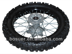 dirt bike 18 inches rear wheel, steel rim