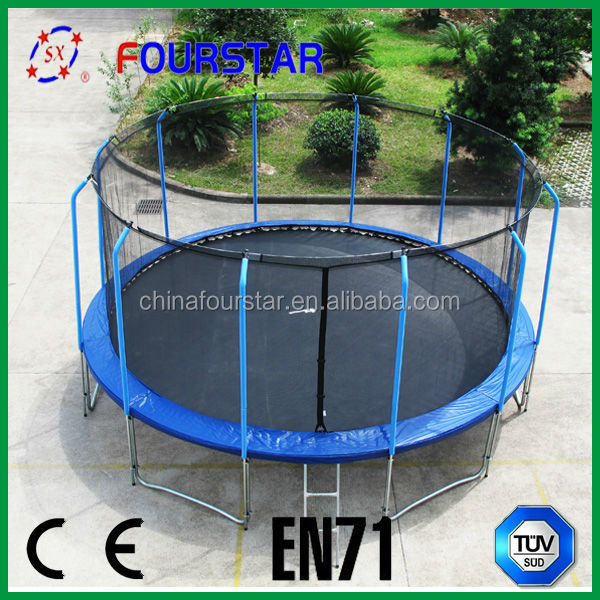 Fourstar outdoor fitness trampoline 16FThas safety net with low price and high quatity