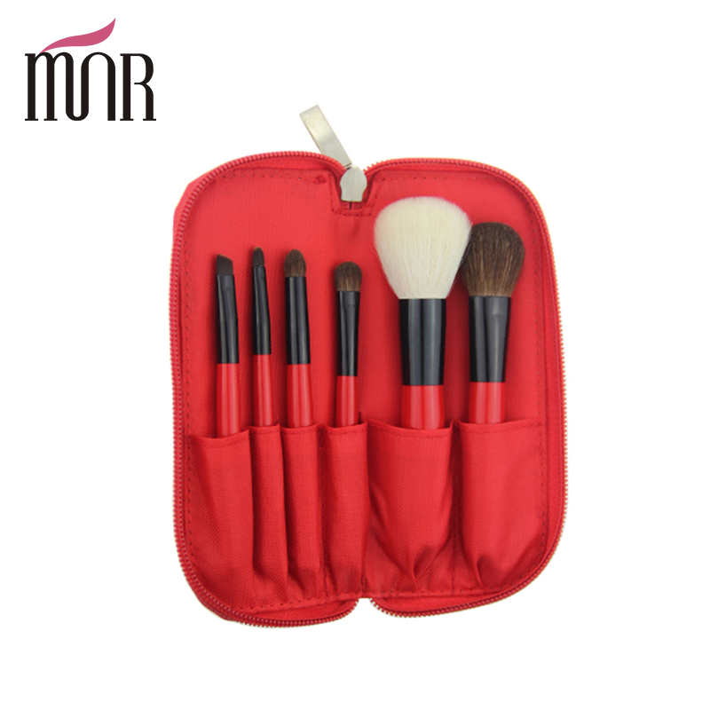 Newest goat nature hair and horse mink hair brush travel brush for makeup set