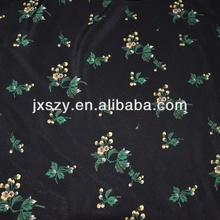 Flower Printed silk crepe fabric