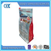 plastic bags for food packaging stand up/packaging zip bag/square bottom plastic bag