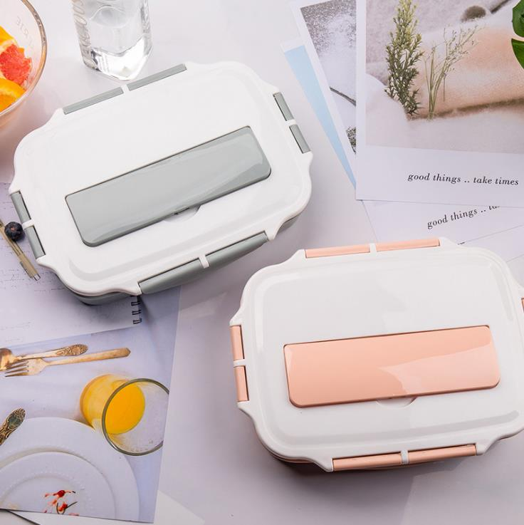 304 Plastic Thermal Food Containers Stainless Steel Lunch Box Plastic Container