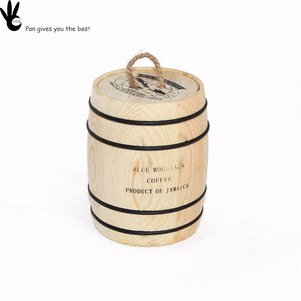 Top high quality solid wooden natural mug tea coffee packaging barrel