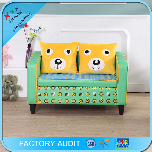 kids soft preschool 2 seat chesterfield leather sofa