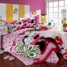 Mickey Mouse cartoon designs for bedsheet fabrics/China textile fabric