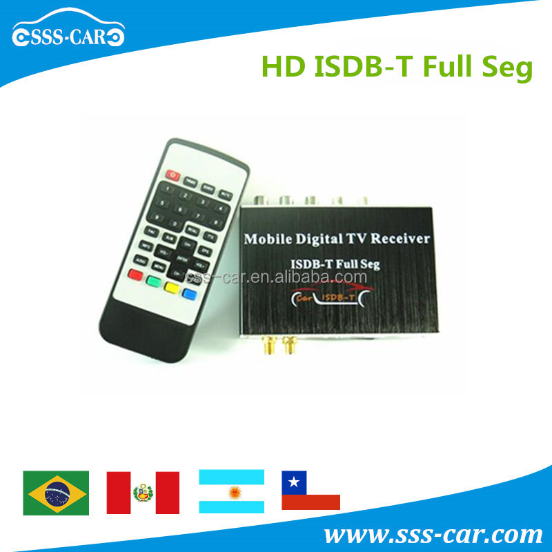 250km/h mobile digital tv tuner receiver box car isdb-t philippines with usb slot