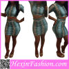 New Arrival Sexy Two Piece Long Sleeve Bandage Dress