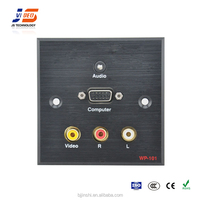 Wall outlet socket with computer, audio and video interface