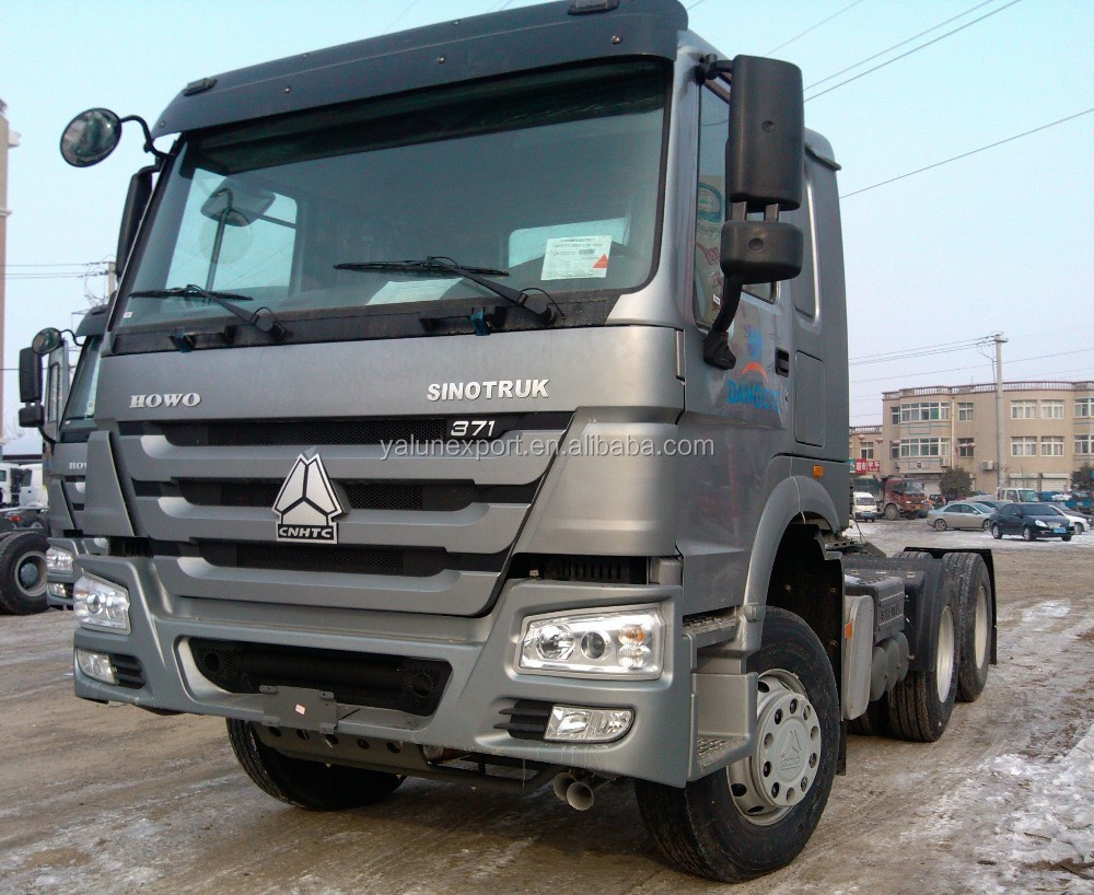 Chinese truck Sinotruk HOWO 10 tires 6x4 tractor head for sale 371hp HOWO prime mover