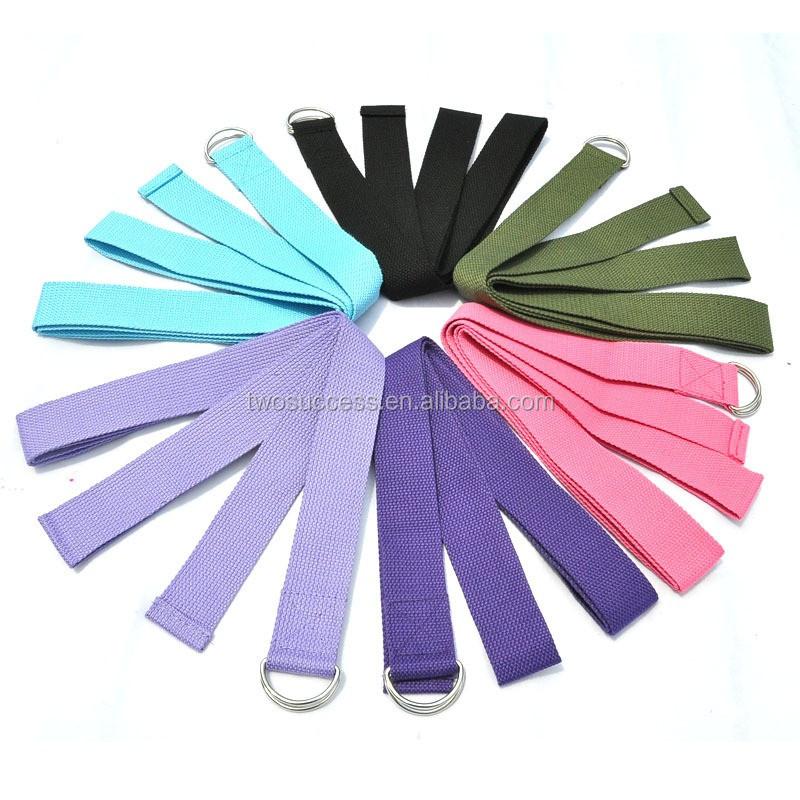 hot selling cotton yoga straps, fitness yoga band (5).jpg
