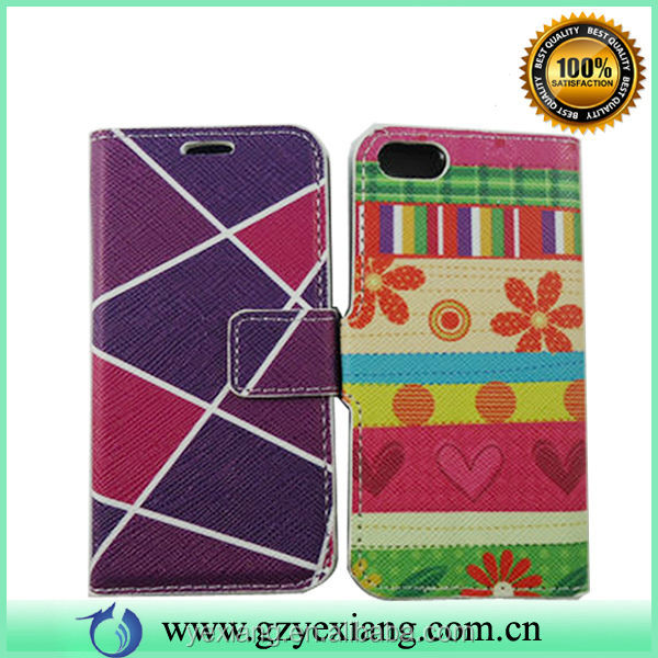 Wholesale Magnetic Wallet Case For Iphone 5 Custom Back Cover Case