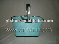 Blue Folding shopping bag basket