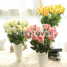 2017 New Product SF2017134 Wholesale recording function honey lovers gifts artificial single rose artificial roses