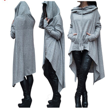 Hoodies Sweatshirts Women Casual Outwear Hoody Loose Long Sleeve Mantle Hooded Cover Pullover Clothes 2017 New