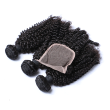 Alibaba express virgin indian curly hair weft and top wave lace closure
