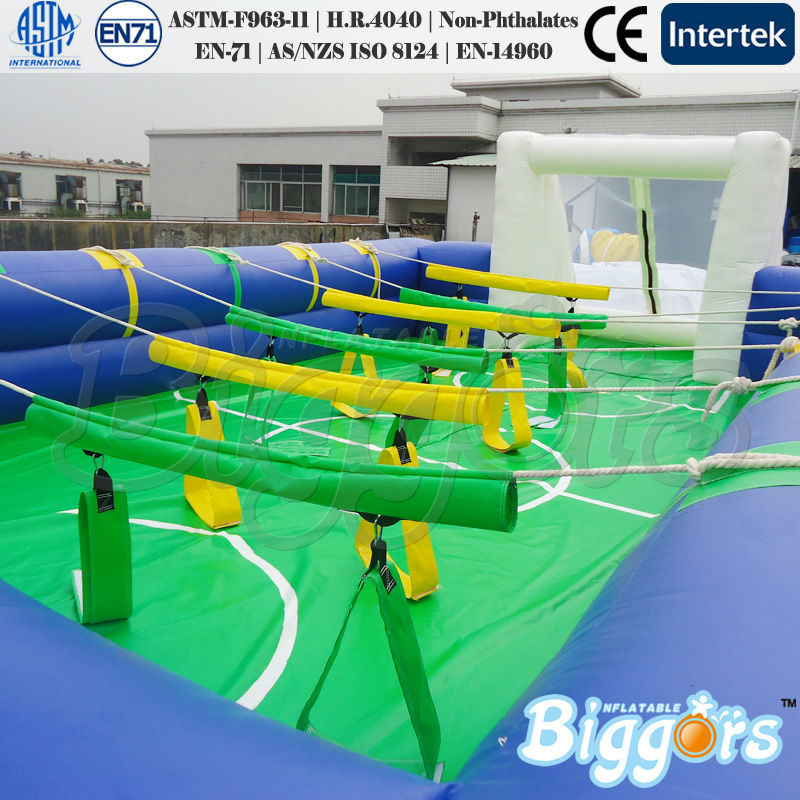 Commercial Inflatable Human Foosball Yard Sport Arena Game