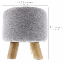 fancy fabric wooden stools 4 foot ottoman