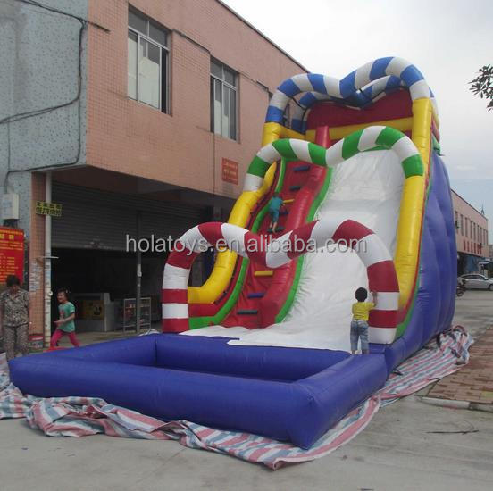 Hola candy inflatable water slide for kids and adults/inflatable slide/inflatable water slide